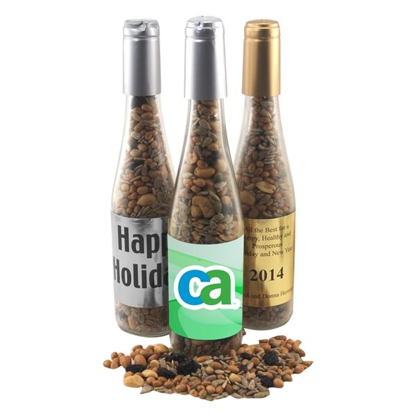 Promotional Large Champagne Bottle with Trail Mix