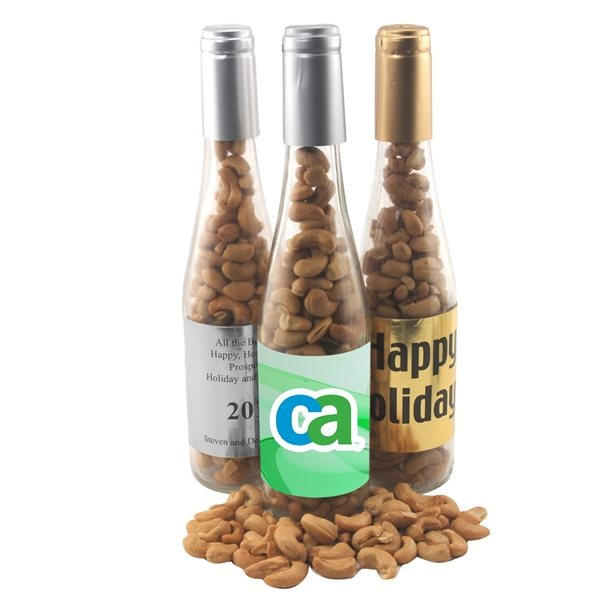 Promotional Large Champagne Bottle with Pistachios
