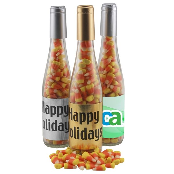 Promotional Large Champagne Bottle with Candy Corn
