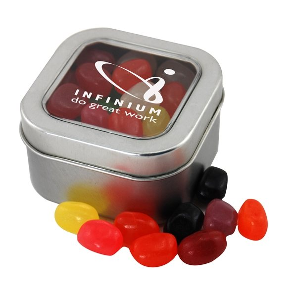 Promotional Small Window Tin with Jelly Beans