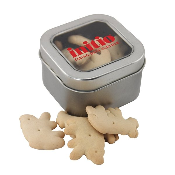 Promotional Small Window Tin with Animal Crackers
