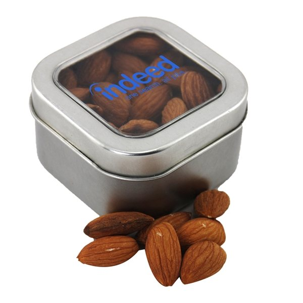 Promotional Small Window Tin with Almonds