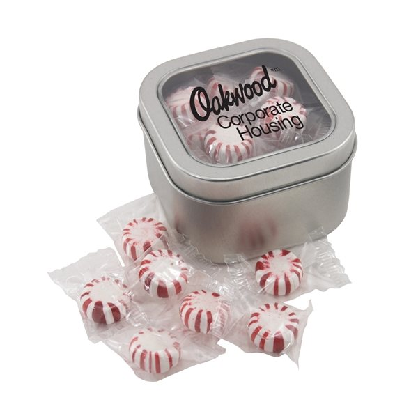 Promotional Large Window Tin with Starlight Peppermints