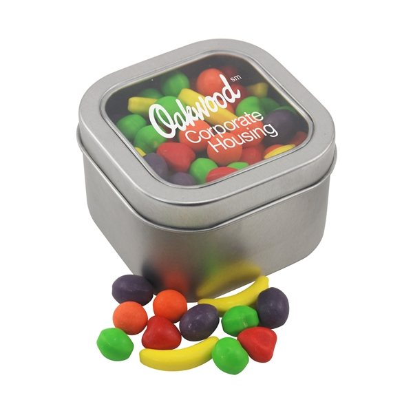 Promotional Large Window Tin with Runts