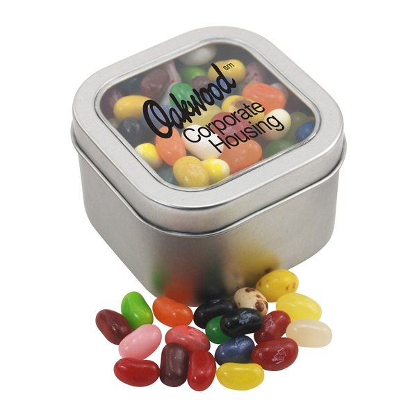 Promotional Large Window Tin with Jelly Bellies