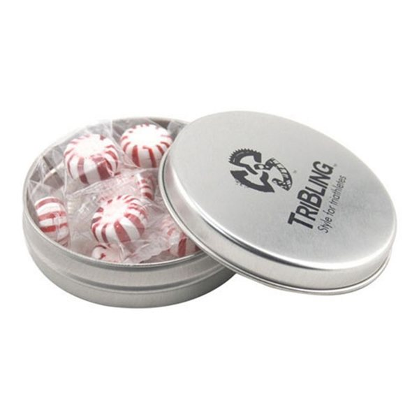 Promotional 3 1/4 Round Tin with Starlight Peppermints