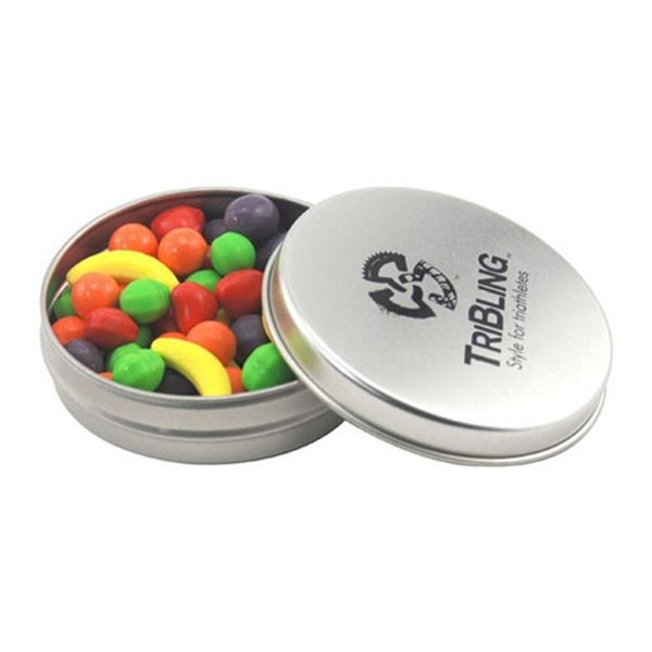 Promotional 3 1/4 Round Tin with Runts