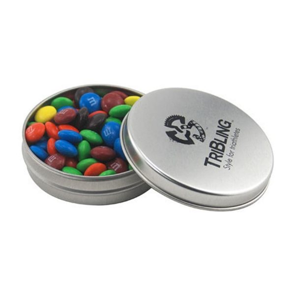 Promotional 3 1/4 Round Tin with MMs