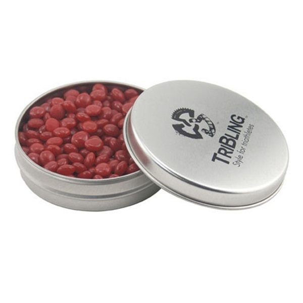 Promotional 3 1/4 Round Tin with Red Hots