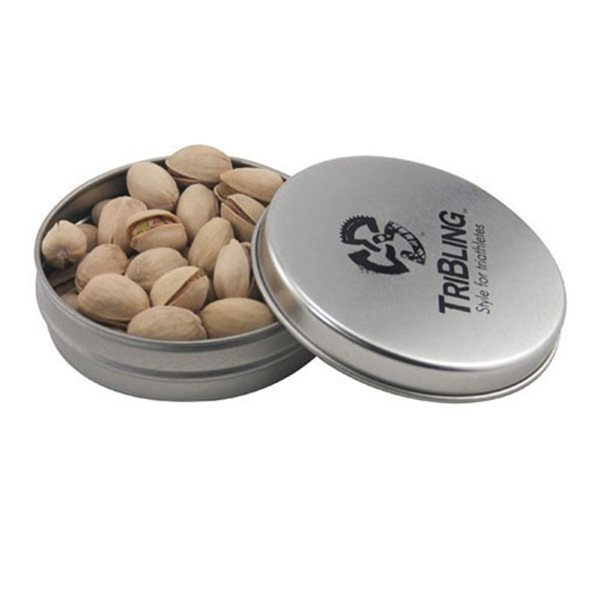Promotional 3 1/4 Round Tin with Pistachios