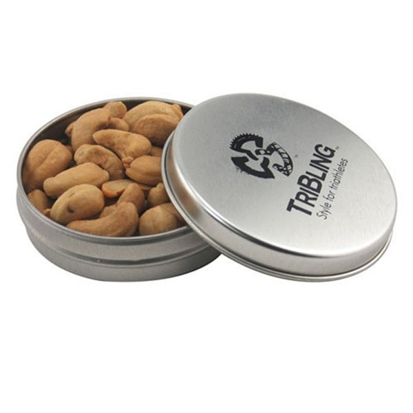 Promotional 3 1/4 Round Tin with Cashews