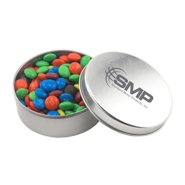 Promotional 3 1/2 Round Tin with MMs