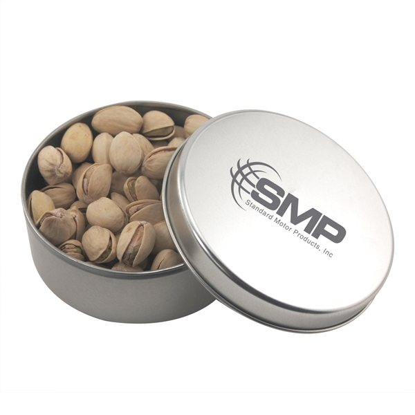 Promotional 3 1/2 Round Tin with Pistachios