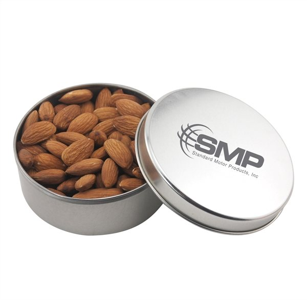 Promotional 3 1/2 Round Tin with Almonds