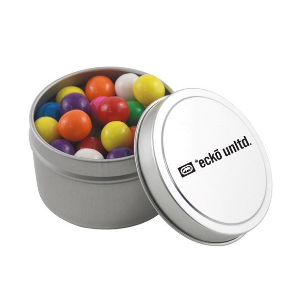 Promotional 2 3/4 Round Tin with Gumballs