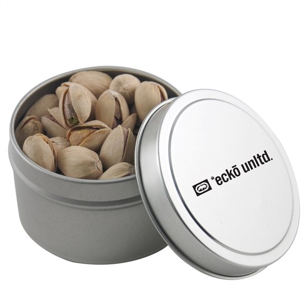 Promotional 2 3/4 Round Tin with Pistachios