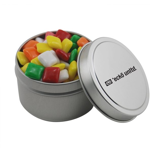 Promotional 2 3/4 Round Tin with Mini Chicklets