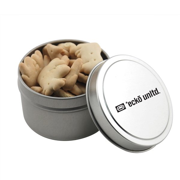 Promotional 2 3/4 Round Tin with Animal Crackers