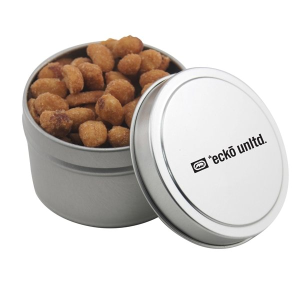 Promotional 2 3/4 Round Tin with Honey Roasted Peanuts