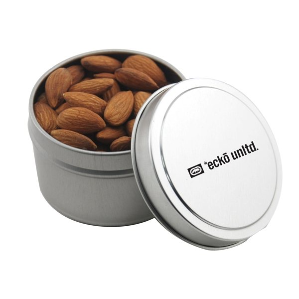 Promotional 2 3/4 Round Tin with Almonds