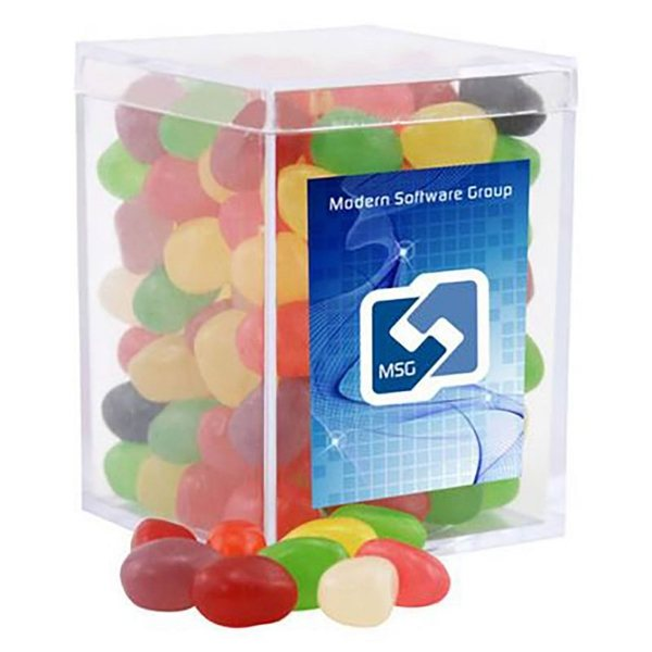 Promotional Small Rectangular Acrylic Box with Jelly Beans