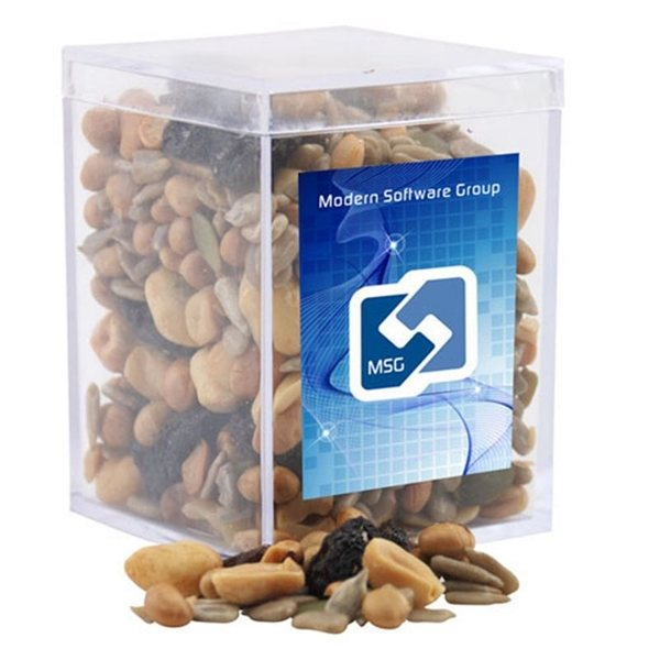 Promotional Small Rectangular Acrylic Box with Trail Mix