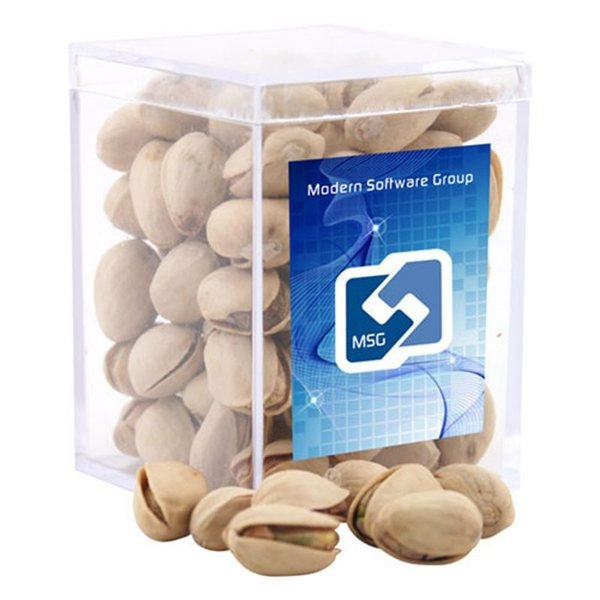 Promotional Small Rectangular Acrylic Box with Pistachios