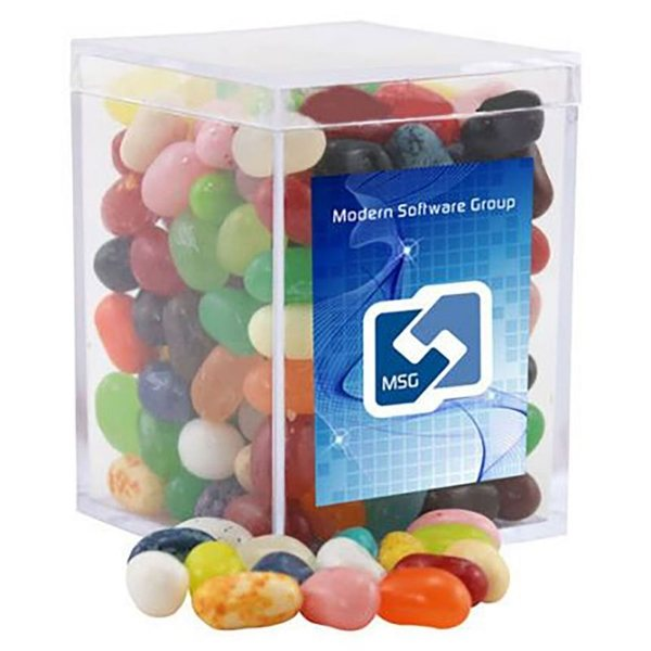 Promotional Small Rectangular Acrylic Box with Jelly Bellies