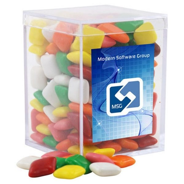 Promotional Small Rectangular Acrylic Box with Mini Chicklets