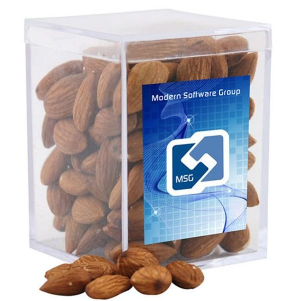 Promotional Small Rectangular Acrylic Box with Almonds