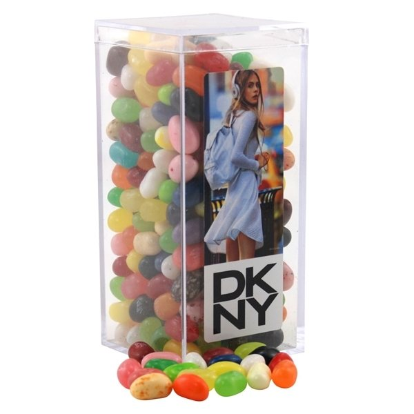 Promotional Large Rectangular Acrylic Box with Jelly Bellies