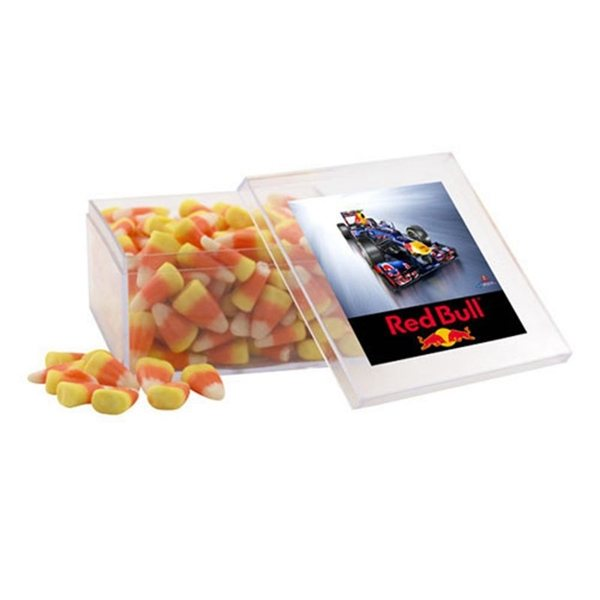 Promotional Large Square Acrylic Case with Candy Corn