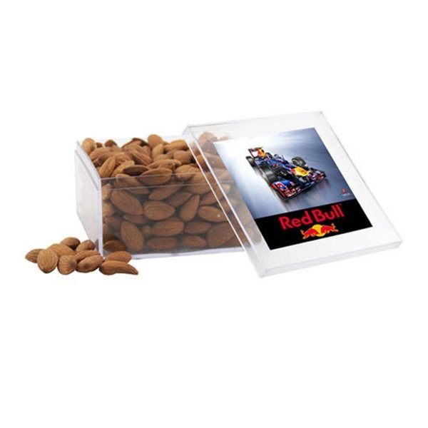 Promotional Large Square Acrylic Case with Almonds