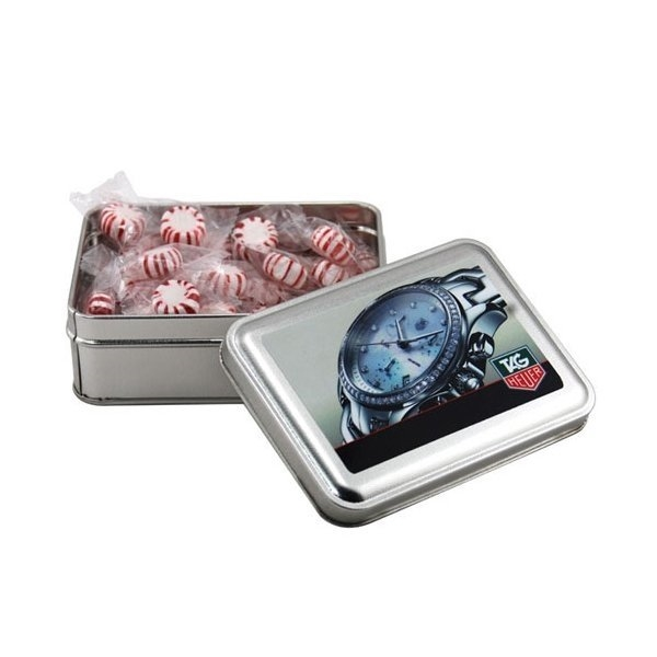 Promotional 5 Rectangle Tin with Starlight Peppermints