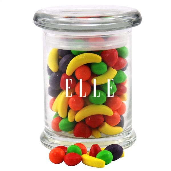 Promotional 3 Round Glass 8 oz Jar with Runts