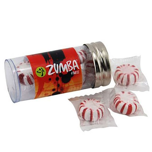 Promotional Small Plastic Tube with Starlight Peppermints