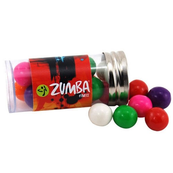 Promotional Small Plastic Tube with Gumballs