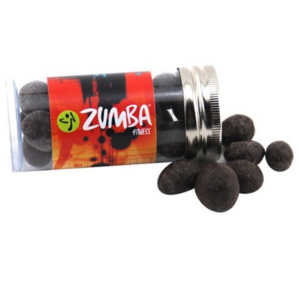Promotional Small Plastic Tube with Chocolate Espresso Beans
