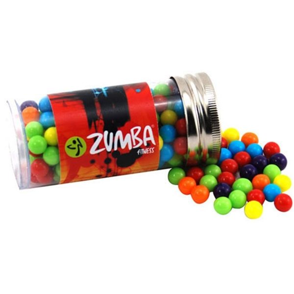 Promotional Small Plastic Tube with Jaw Breakers Mini