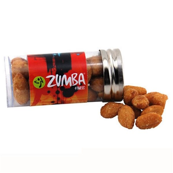 Promotional Small Plastic Tube with Honey Roasted Peanuts