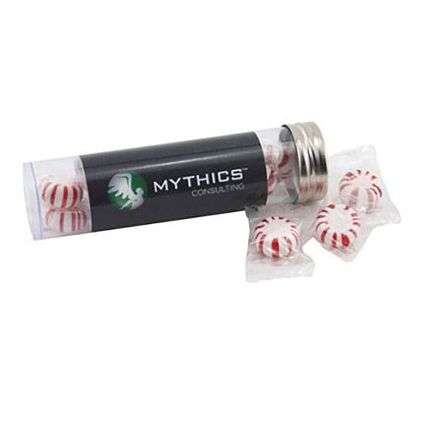 Promotional Medium Plastic Tube with Starlight Peppermints