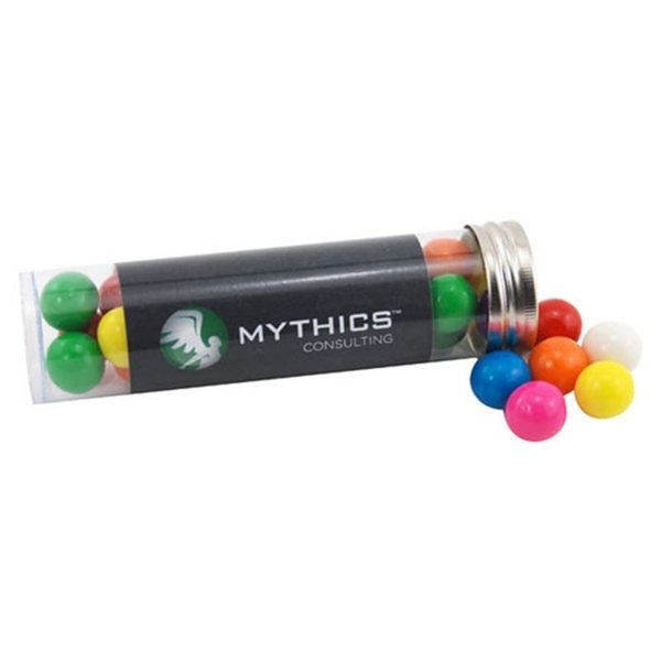 Promotional Medium Plastic Tube with Gumballs