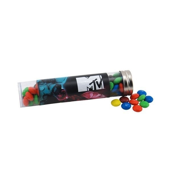 Promotional Large Plastic Tube with MMs