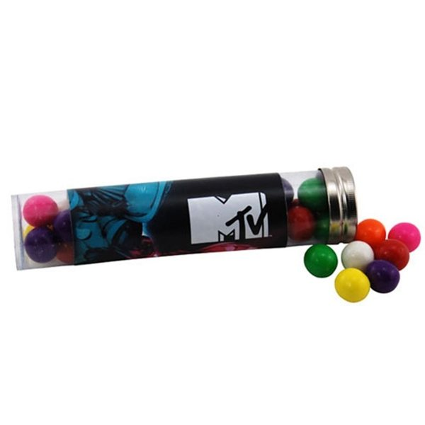 Promotional Large Plastic Tube with Gumballs