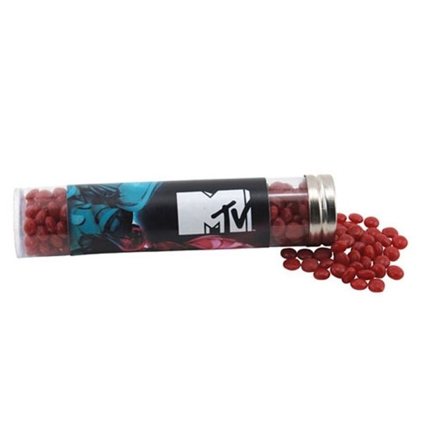 Promotional Large Plastic Tube with Red Hots