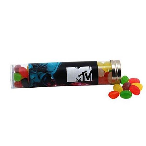 Promotional Large Plastic Tube with Jelly Beans