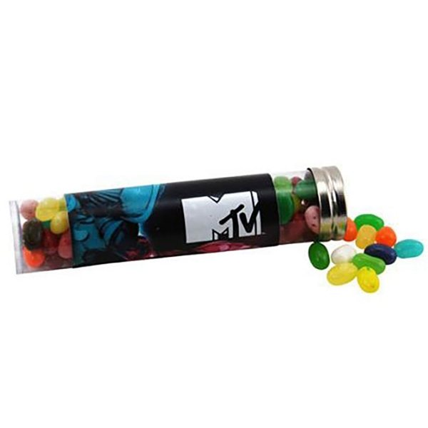 Promotional Large Plastic Tube with Jelly Bellies