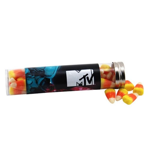 Promotional Large Plastic Tube with Candy Corn