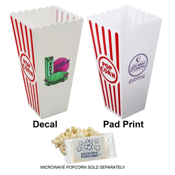 Promotional Re - Usable Plastic Popcorn Buckets (White)