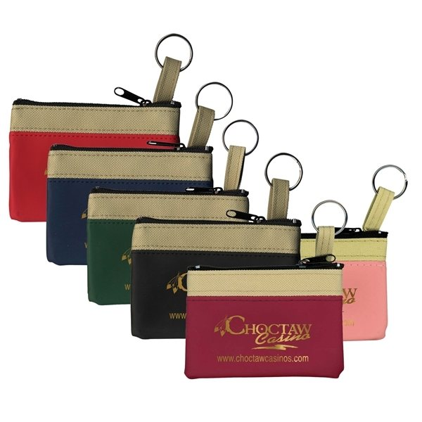 Promotional The SAFARI Classic Zip Pouch with Key Ring